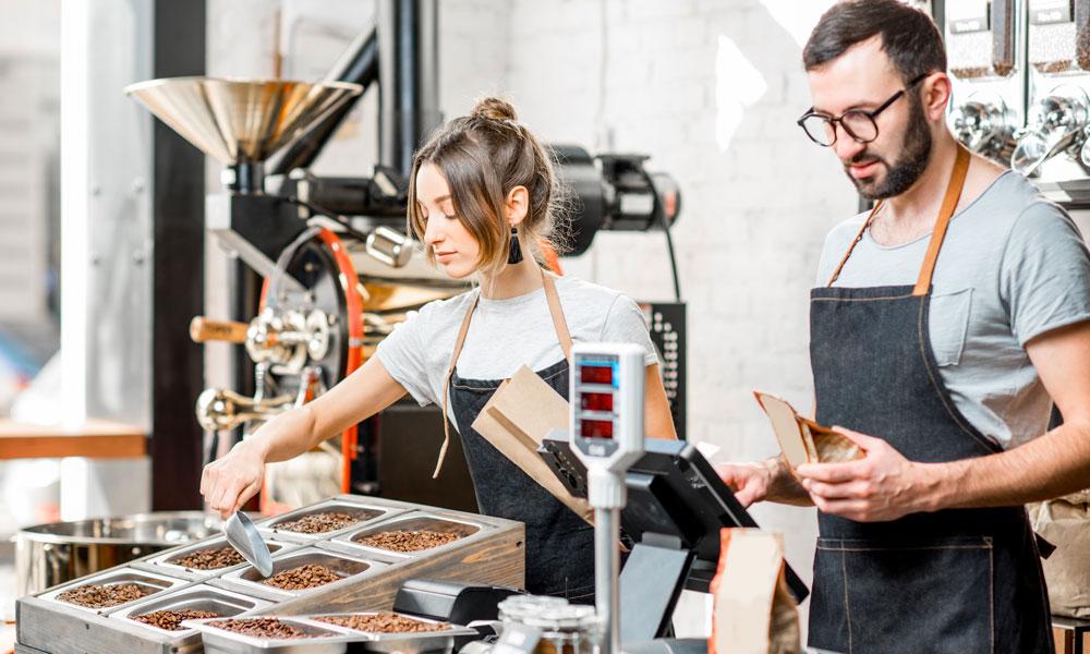 emprendedores trabajando en franquicias